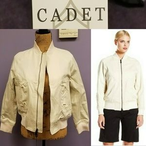 CADET flight jacket cream NWT made is USA size 6